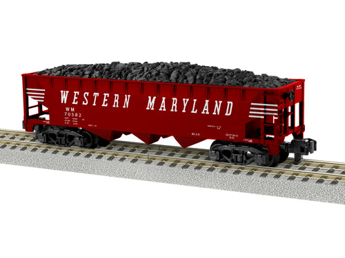 Lionel A/F - Western Maryland #70582 3-Bay Hopper - S Scale (2019143) - the-pennsy-station-llc