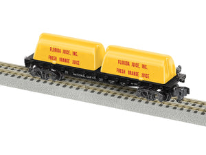 Lionel A/F - Florida Juice #1357 Milk Flat Car - S Scale (2019171) - the-pennsy-station-llc