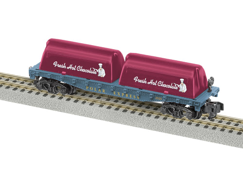 Lionel A/F - The Polar Express Milk Flat Car - S Scale (2019200) - the-pennsy-station-llc