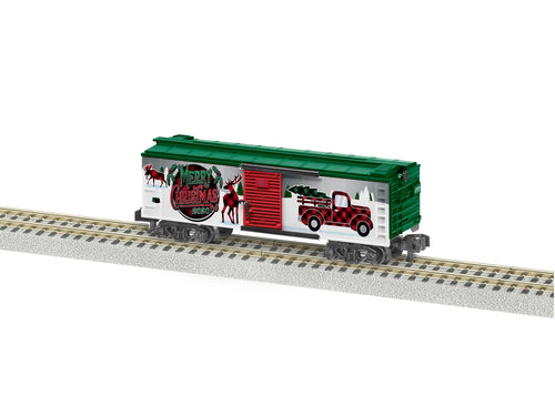 Lionel A/F - 2020 Christmas Boxcar - S Scale (2019550) - the-pennsy-station-llc