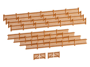 Lionel - Picket Fence - Brown - HO Scale (2057130)