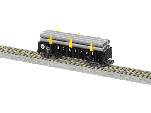 Lionel - A/F - Gondola w/ Pipe Load - US Steel #260031 - S Scale (2119231)