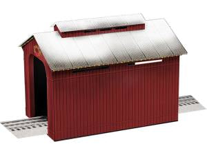 Lionel - Lighted Christmas Half-Covered Bridge (1929090) - the-pennsy-station-llc