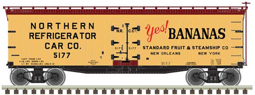 Atlas - 40' Yes! Bananas Wood Reefer NRC - N Scale (50003880) - the-pennsy-station-llc