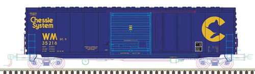 Atlas - 50' Smooth-Side Box Car Chessie System - N Scale (50004006) - the-pennsy-station-llc