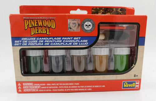 Revell - Pinewood Derby - Deluxe Camouflage Paint Set (RMXY9425) - the-pennsy-station-llc
