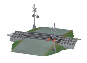 Lionel - Fastrack Grade Crossing w/ Flashers (6-12052) - the-pennsy-station-llc