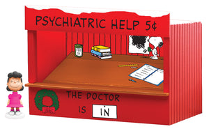 Lionel - Peanuts Psychiatric Booth - O Scale (6-37169) - the-pennsy-station-llc