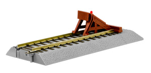 Lionel - A/F Fastrack - Straight Track w/ Lighted Bumpers - S Scale (6-49866) - the-pennsy-station-llc