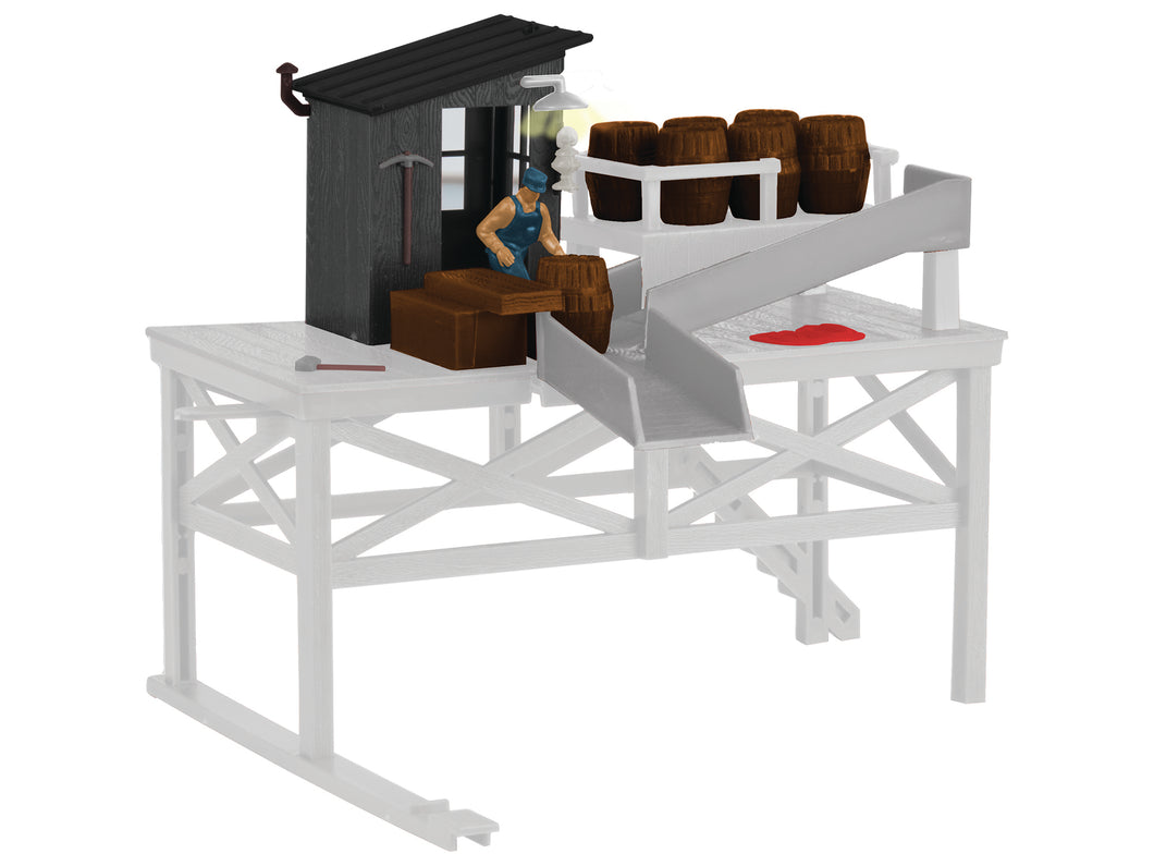 Lionel - Barrel Loader Building - O Scale (6-81017) - the-pennsy-station-llc