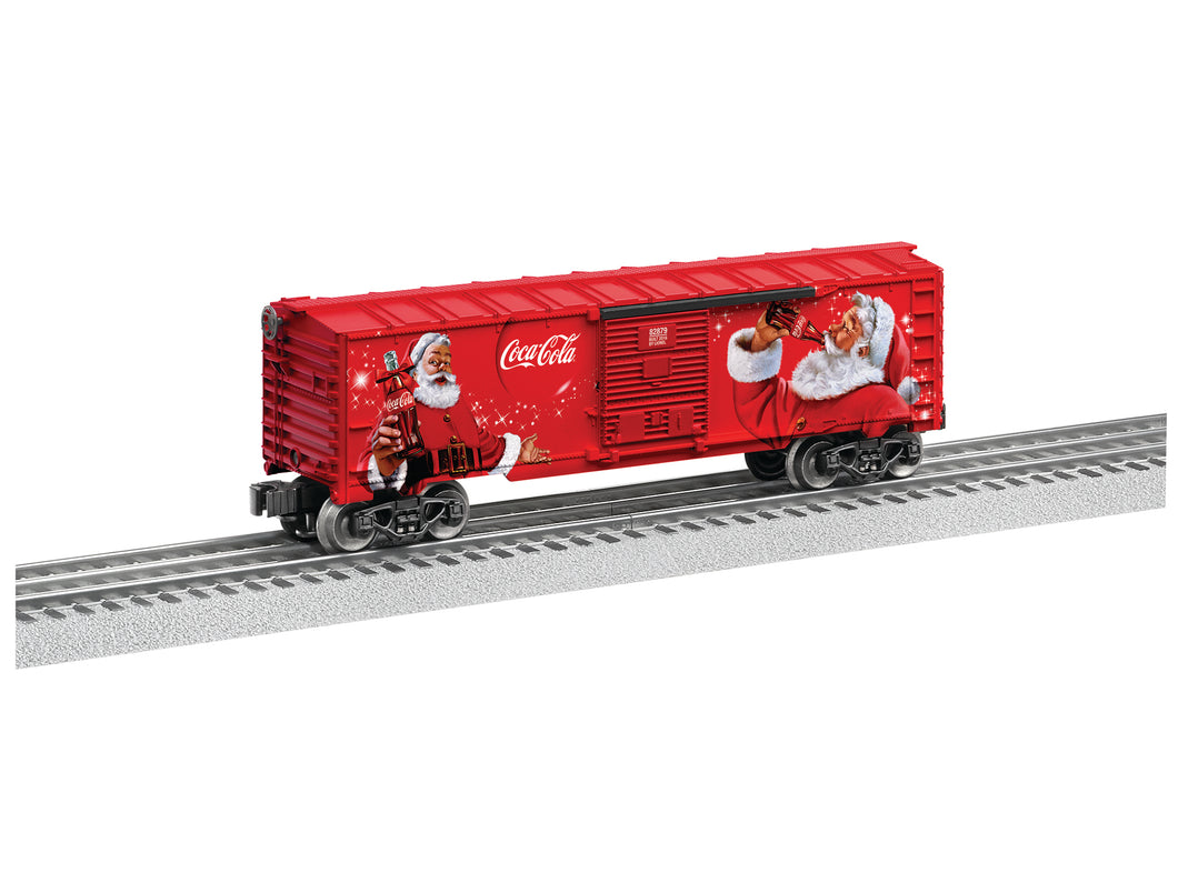 Lionel - Coca-Cola Christmas Boxcar - O Scale (6-82879) - the-pennsy-station-llc