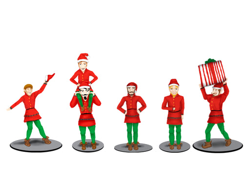 Lionel - The Polar Express - Elves Figure Pack - O Scale (6-83185) - the-pennsy-station-llc