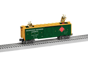 Lionel - Peek-A-Boo Reindeer Boxcar - O Scale (6-83284) - the-pennsy-station-llc