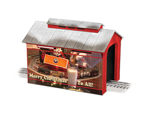 Lionel - Christmas Covered Bridge (6-83291) - the-pennsy-station-llc