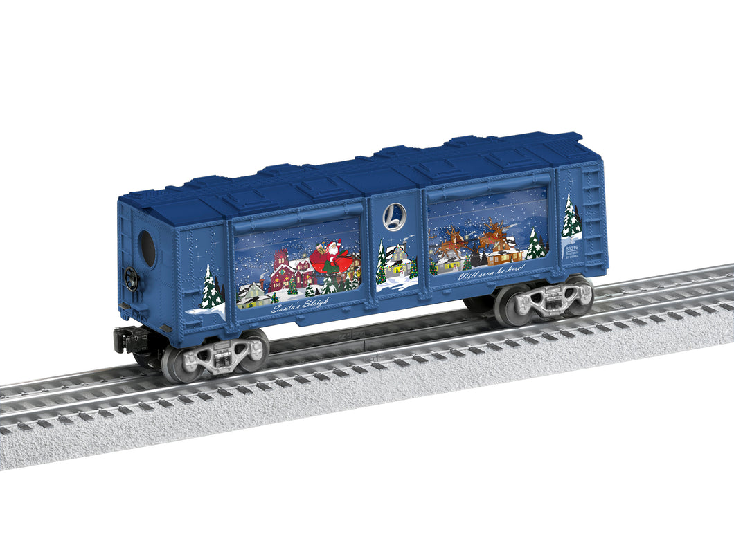 Lionel - Santa's Sleigh Aquarium Car - O Scale (6-83316) - the-pennsy-station-llc