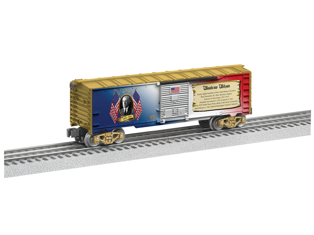 Lionel - USA President Woodrow Wilson Boxcar - O Scale (6-83947) - the-pennsy-station-llc