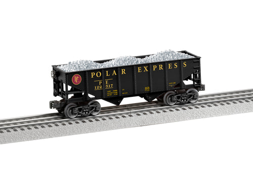 Lionel - The Polar Express - Hopper w/ Silver Load - O Scale (6-84370) - the-pennsy-station-llc