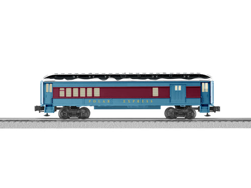 Lionel - The Polar Express - Combination Car w/ Snow - O Scale (6-84600) - the-pennsy-station-llc
