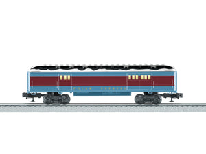Lionel - The Polar Express - Baggage Car w/ Snow - O Scale (6-84605) - the-pennsy-station-llc