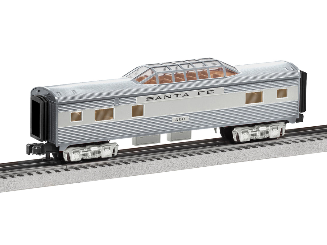 Lionel - Santa Fe Vista Dome Car - O Scale (6-84725) - the-pennsy-station-llc
