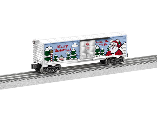 Lionel - 2018 Christmas Boxcar - O Scale (6-84747) - the-pennsy-station-llc