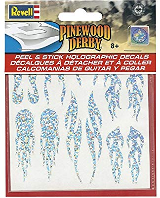 Revell - Pinewood Derby - Peel & Stick Holographic Decals (RMXY9447) - the-pennsy-station-llc