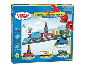 Bachmann - Deluxe Thomas Christmas Express RTR Train Set - HO Scale (00721) - the-pennsy-station-llc