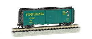 Bachmann - Rolling Stock - 40' Susquehanna/Suzie-Q Box Car - N Scale (17058) - the-pennsy-station-llc