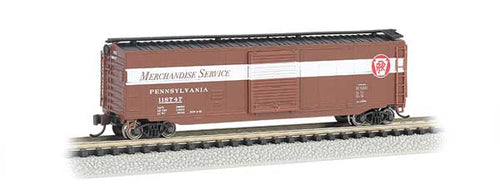 Bachmann - Rolling Stock - 50' Sliding-Door PRR Merch. Box Car - N Scale (19457) - the-pennsy-station-llc