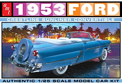 AMT - 1953 Ford Convertible - Plastic Model Kit (1026) - the-pennsy-station-llc