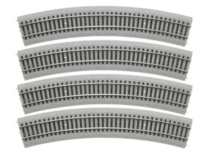 "Lionel - 20"" Radius Curve MagneLock Track 4-Pack - HO Scale (87-1818010) - the-pennsy-station-llc"