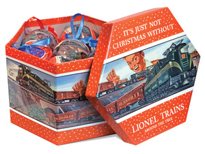 Lionel - Post-War Ornament Gift Box - 14 Included (9-21012) - the-pennsy-station-llc