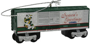 Lionel - Silver Bells Box Car Ornament (9-22017) - the-pennsy-station-llc