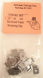 GarGraves - 25 Count Sectional Track Retaining Clip - O Scale (901) - the-pennsy-station-llc