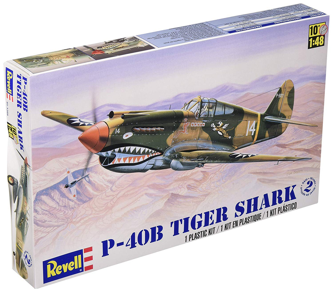 Revell - P-40B Tiger Shark 1/48 Scale - Plastic Model Kit (855209) - the-pennsy-station-llc