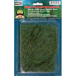 "JTT - 1-1/2 to 3"" Foliage Medium Green, Approx 60 - All Scales (95519) - the-pennsy-station-llc"