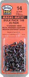 Kadee - Magne-Matic - Metal Whisker Couplers Bulk Pack #148 - HO Scale (14) - the-pennsy-station-llc