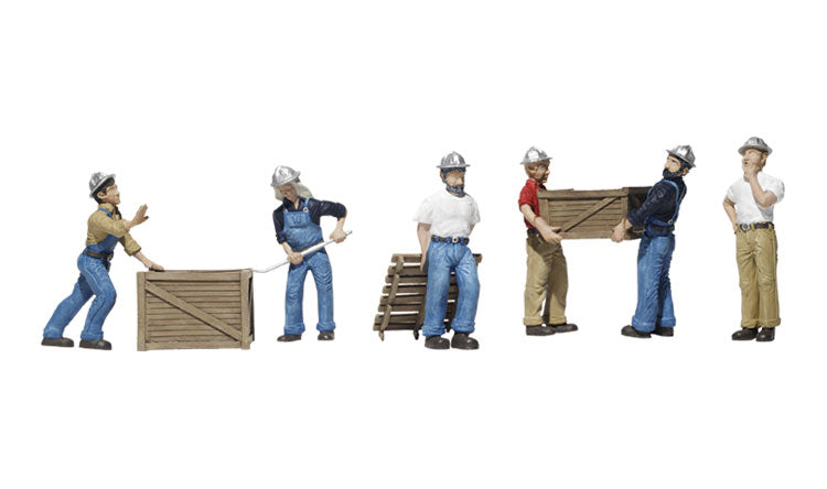 Woodland Scenics - Dock Workers - HO Scale (A1823) - the-pennsy-station-llc