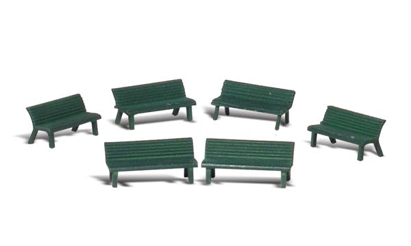 Woodland Scenics - Park Benches - HO Scale (A1879) - the-pennsy-station-llc