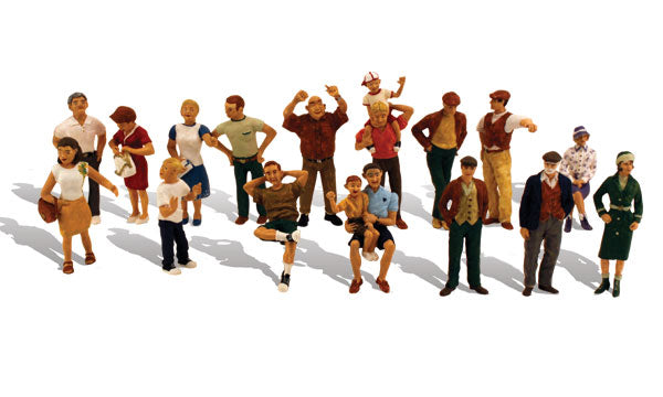 Woodland Scenics - 16 People - HO Scale (A1958) - the-pennsy-station-llc