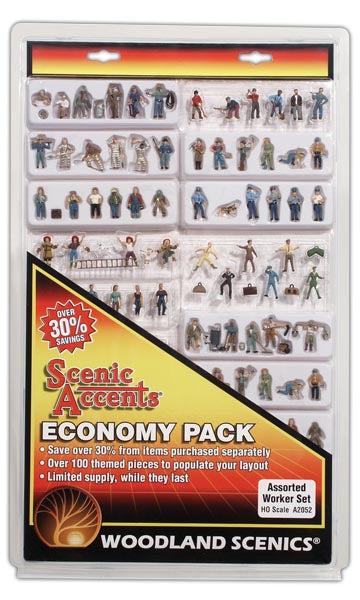 Woodland Scenics - Assorted Worker Set - HO Scale (A2052) - the-pennsy-station-llc
