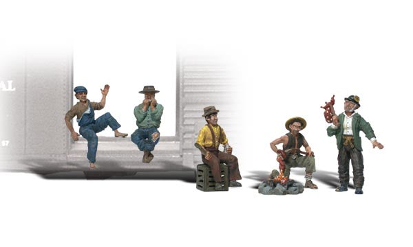 Woodland Scenics - Hobos - O Scale (A2734) - the-pennsy-station-llc