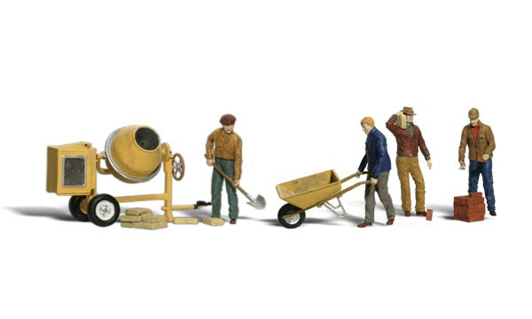 Woodland Scenics - Masonry Workers - O Scale (A2753) - the-pennsy-station-llc