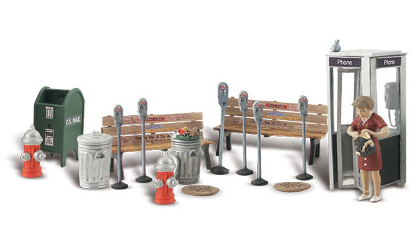 Woodland Scenics - Street Accessories - O Scale (A2764) - the-pennsy-station-llc