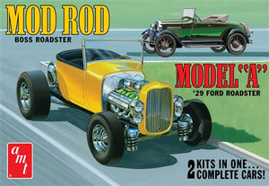 AMT - 1929 Ford Model A Roadster - Plastic Model Kit (1002) - the-pennsy-station-llc