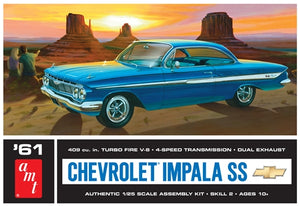 AMT - 1961 Chevy Impala SS - Plastic Model Kit (1013) - the-pennsy-station-llc