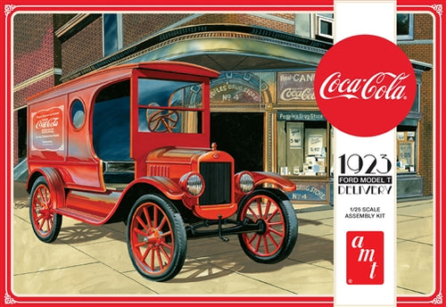 AMT - Coca-Cola 1923 Ford Model T - Plastic Model Kit (1024) - the-pennsy-station-llc