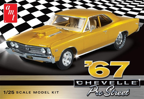 AMT - 1967 Chevy Chevelle Pro Street - Plastic Model Kit (876) - the-pennsy-station-llc