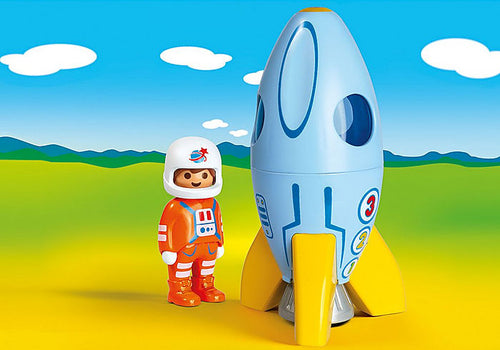 Playmobil - 1.2.3 - Astronaut with Rocket (70186)