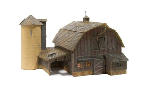 Woodland Scenics - BR Old Weathered Barn - HO Scale (BR5038) - the-pennsy-station-llc